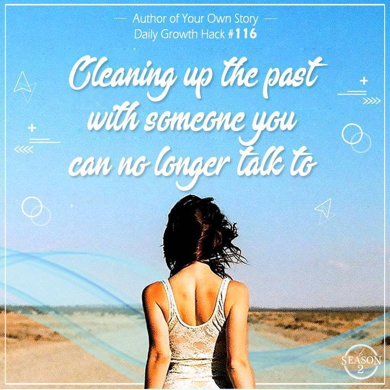 Cleaning Up The Past With Someone You Can No Longer Talk To