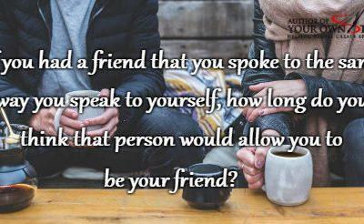 Question of the week – How Long Do You Think You Could Be Friends?