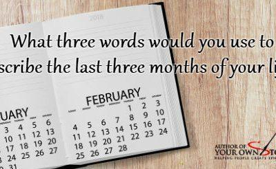 Question of the week – Three Words, Three Months