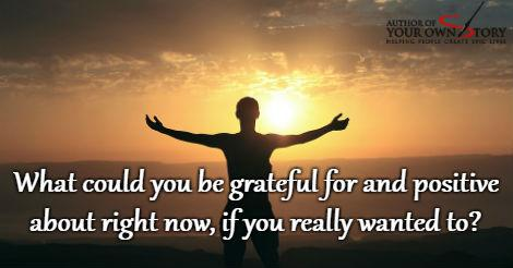 Question of the week - If You Really Wanted To Be Grateful For