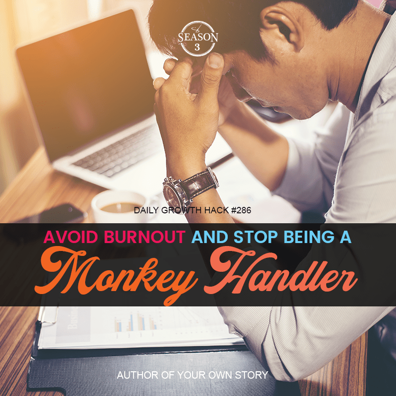 Avoid Burn Out And Stop Being A Monkey Handler