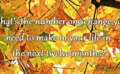 Question of the week – Number One Change You Need To Make