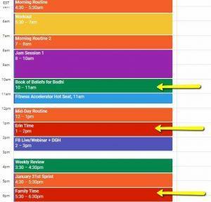 calendar priorities